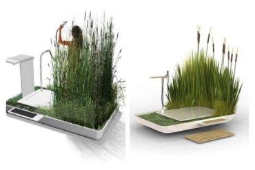 Eco Shower รีไซเคิลน้ำจากการอาบมาหล่อเลี้ยงต้นไม้ที่อยู่รอบๆ 15 - ห้องน้ำ