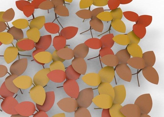 โต๊ะที่ได้แรงบันดาลใจจากกิ่งไม้ ใบไม้..ในฤดูใบไม้ร่วง 13 - Milan2014