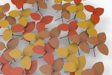 โต๊ะที่ได้แรงบันดาลใจจากกิ่งไม้ ใบไม้..ในฤดูใบไม้ร่วง 12 - Milan2014
