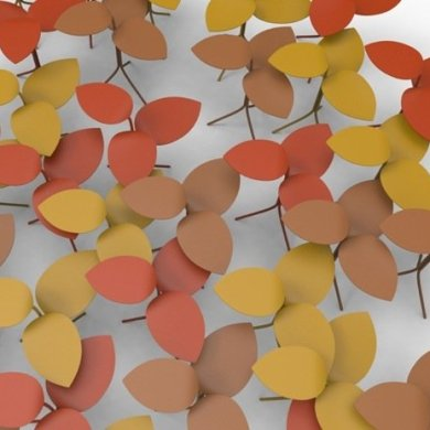 โต๊ะที่ได้แรงบันดาลใจจากกิ่งไม้ ใบไม้..ในฤดูใบไม้ร่วง 16 - Milan2014
