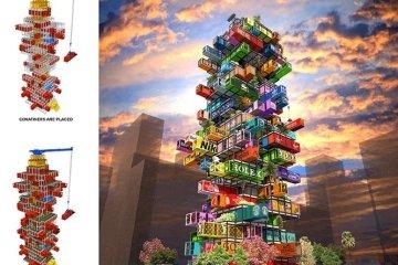 แนวคิดใช้คอนเทนเนอร์สร้างโรงแรม..สลับสับเปลี่ยนตู้ได้เหมือนต่อของเล่น