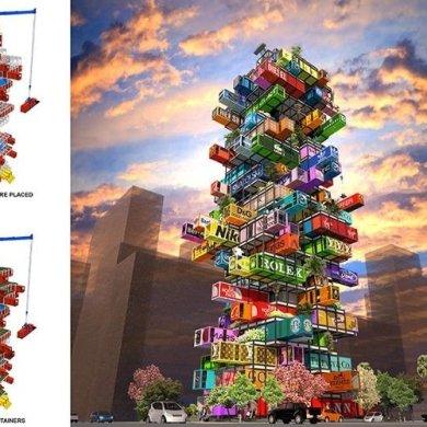 แนวคิดใช้คอนเทนเนอร์สร้างโรงแรม..สลับสับเปลี่ยนตู้ได้เหมือนต่อของเล่น 16 - container