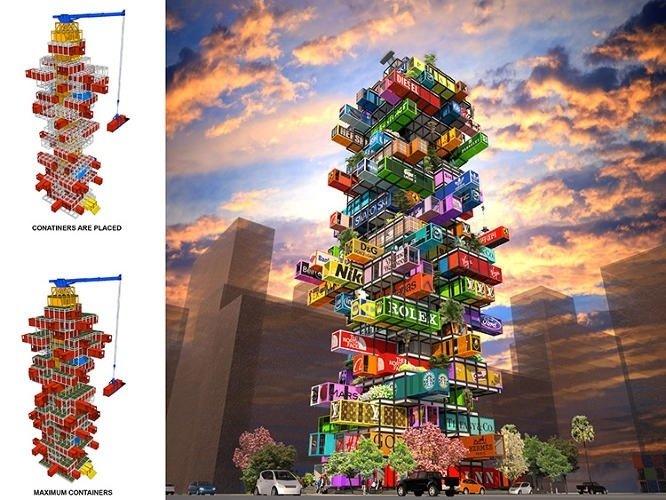 25570422 192433 แนวคิดใช้คอนเทนเนอร์สร้างโรงแรม..สลับสับเปลี่ยนตู้ได้เหมือนต่อของเล่น