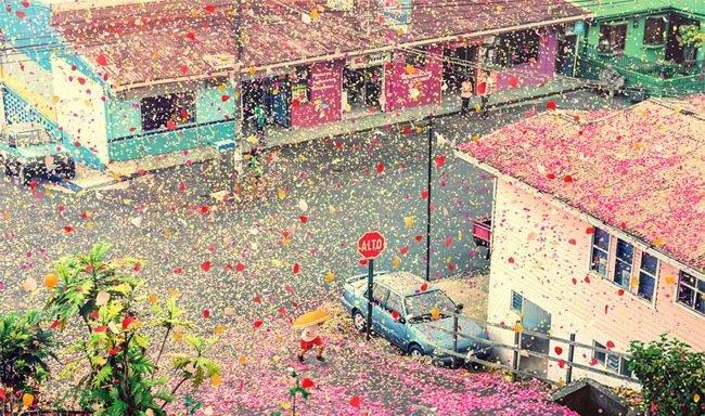 เมื่อภูเขาไฟระเบิดเป็น 8 ล้านกลีบดอกไม้ ปกคลุมทั่วหมู่บ้านใน Costa Rica 14 - แคมเปญโฆษณา