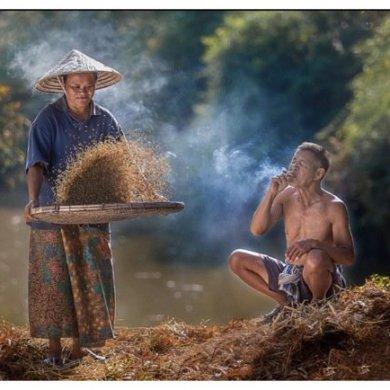 ภาพความสุขในวิถีชีวิตแบบไทยๆโดย Sangkhom Hungkhunthod 15 - ภาพชนบทไทย