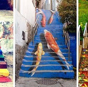 Street Art ศิลปะบนบันได 16 แห่ง ทั่วโลก สีสันสดใสสุดๆ 14 - street art