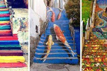 Street Art ศิลปะบนบันได 16 แห่ง ทั่วโลก สีสันสดใสสุดๆ 10 - street art