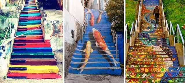 Street Art ศิลปะบนบันได 16 แห่ง ทั่วโลก สีสันสดใสสุดๆ 13 - งานศิลปะ