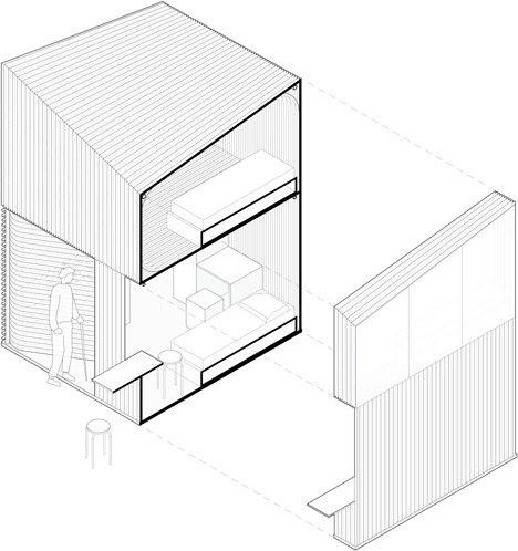 20140516 165357 ชุมชนบ้านขนาดเล็กจากไม้ไผ่ ภายในอาคารโรงงานเก่า..แก้ปัญหาที่อยู่อาศัยชั่วคราว