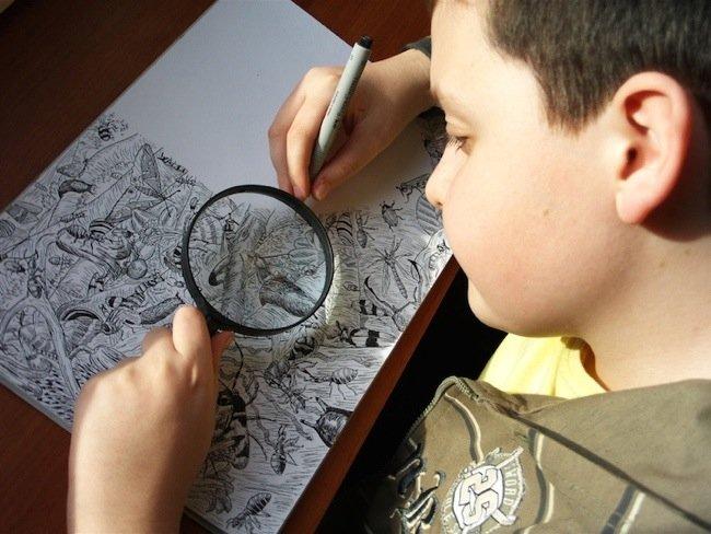 25570509 080236 ศิลปินเด็กอายุ11ปี สร้างผลงานชีวิตสัตว์ที่เต็มไปด้วยรายละเอียด