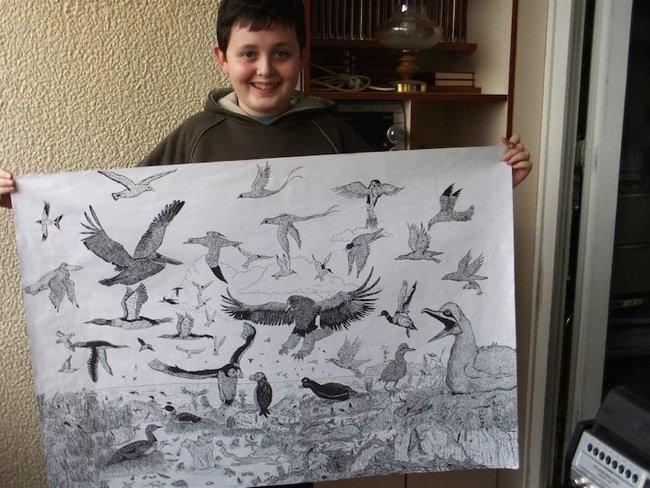 25570509 080538 ศิลปินเด็กอายุ11ปี สร้างผลงานชีวิตสัตว์ที่เต็มไปด้วยรายละเอียด