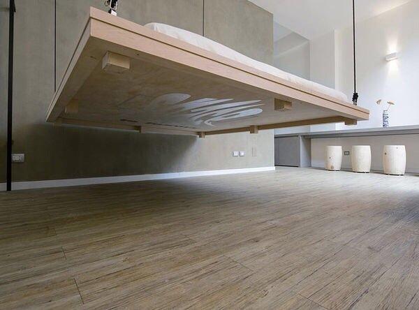 20140604 204919 74959821 เตียงประหยัดพื้นที่..เลื่อนเก็บบนเพดานเมื่อไม่ใช้