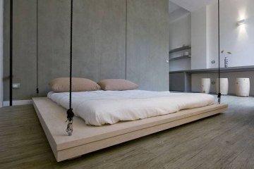 เตียงประหยัดพื้นที่..เลื่อนเก็บบนเพดานเมื่อไม่ใช้ 12 - เตียง