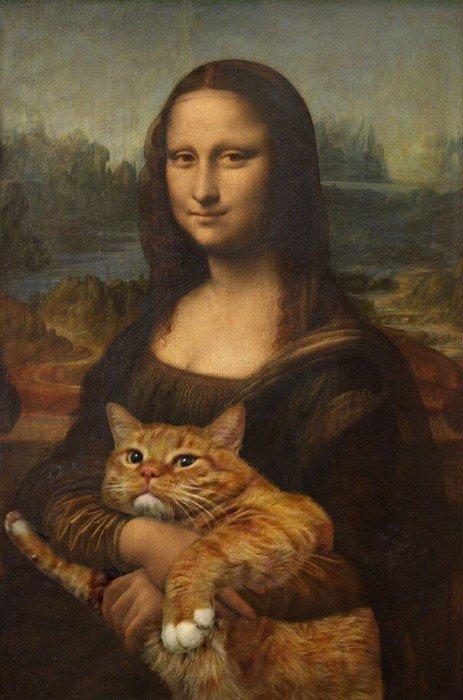 20140608 140031 50431019 ศิลปินรัสเซียวาดภาพแมวอ้วนของเขาเข้าไปในงานศิลป์ระดับคลาสสิคของโลก