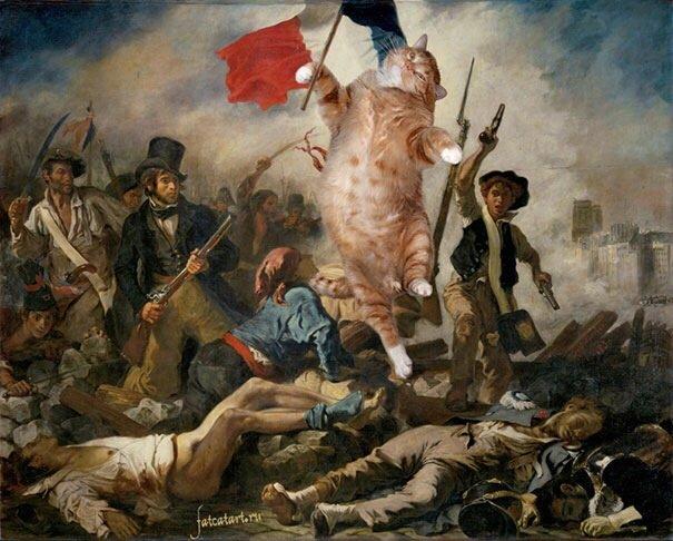 20140608 140433 50673436 ศิลปินรัสเซียวาดภาพแมวอ้วนของเขาเข้าไปในงานศิลป์ระดับคลาสสิคของโลก