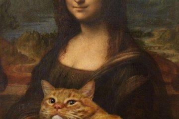 ศิลปินรัสเซียวาดภาพแมวอ้วนของเขาเข้าไปในงานศิลป์ระดับคลาสสิคของโลก 6 - master piece