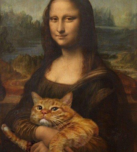 ศิลปินรัสเซียวาดภาพแมวอ้วนของเขาเข้าไปในงานศิลป์ระดับคลาสสิคของโลก 29 - แมว