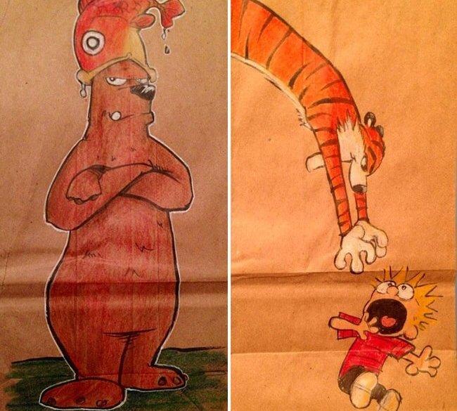 ยอดคุณพ่อนักวาด.. วาดภาพการ์ตูนบนถุงอาหารกลางวันของลูกชายทุกวันตลอด2ปี 13 - Illustrator