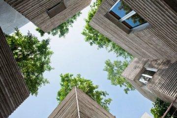 บ้านที่เหมือนกระถางต้นไม้..บ้านรางวัลชนะเลิศ AR House 2014 12 - courtyard