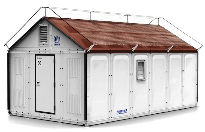 Ikea rendering Refugee Housing Unit บ้านสำหรับผู้อพยพ by IKEA Foundation