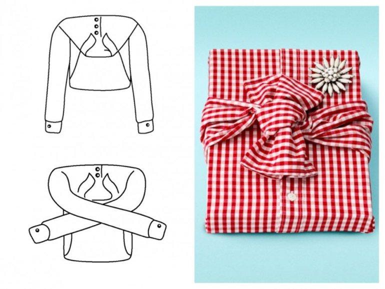 Ready-to-Wear.. ห่อของขวัญด้วยเสื้อเชิ้ต ประหยัดกล่องและกระดาษห่อ 13 - Gift