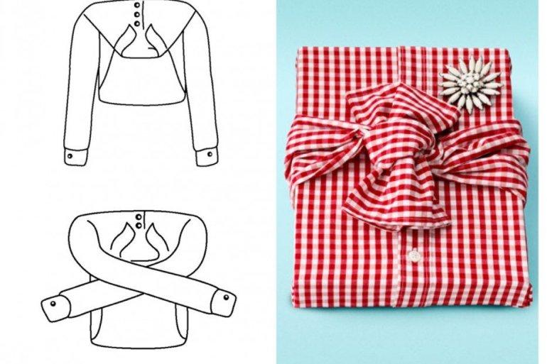 Ready-to-Wear.. ห่อของขวัญด้วยเสื้อเชิ้ต ประหยัดกล่องและกระดาษห่อ 21 - Gift