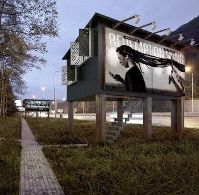 ใช้ประโยชน์จากป้ายโฆษณา เป็นที่พักพิงสำหรับคนไร้บ้าน 26 - บ้านสำหรับคนไร้บ้าน