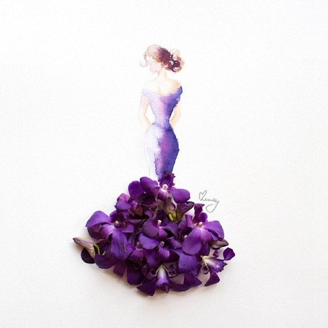 20140801 193756 70676384 เมื่อกลีบดอกไม้กลายเป็นชุดสวยชวนฝัน