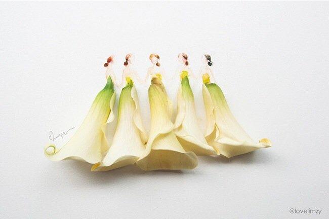 20140801 193756 70676549 เมื่อกลีบดอกไม้กลายเป็นชุดสวยชวนฝัน