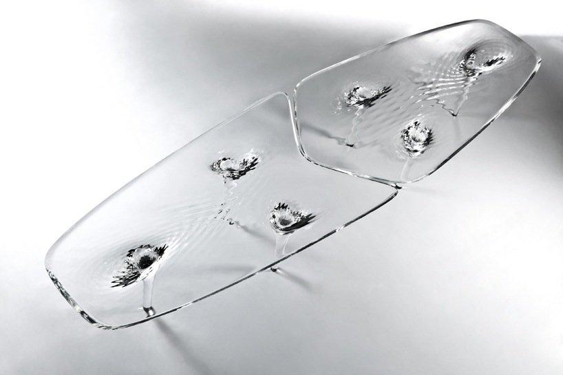 IMG 4275 'liquid glacial table' โต๊ะน้ำแข็งได้ texture สวยๆของน้ำ