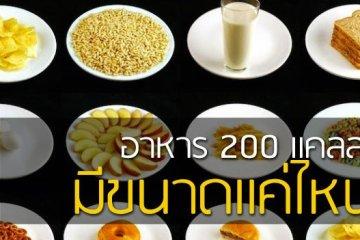 อาหาร 200 แคลลอรี่แต่ละชนิด..มีขนาดแค่ไหน 23 - ลดน้ำหนัก