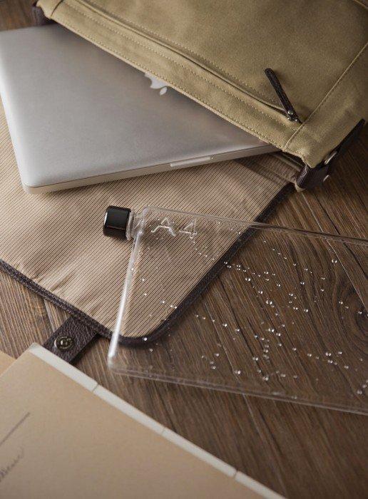 IMG 4877 ขวดน้ำรูปร่างสี่เหลี่ยมแบนๆแบบแผ่นกระดาษ จัดเก็บในกระเป๋าสะดวก..เท่มาก!