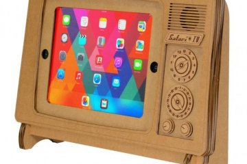 """ที่วาง iPad ทำจากกระดาษกล่อง """"SAFARI TV"""" 6 - cardboard"""