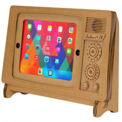 """ที่วาง iPad ทำจากกระดาษกล่อง """"SAFARI TV"""" 14 - cardboard"""