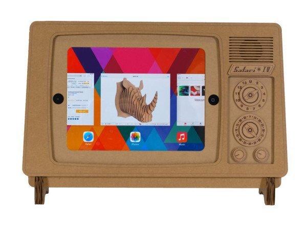 IMG 5568 ที่วาง iPad ทำจากกระดาษกล่อง SAFARI TV