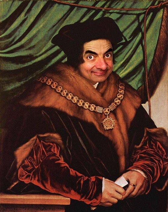 IMG 6097 เมื่อใบหน้า Mr.Bean ไปปรากฏอยู่บนงานศิลปะภาพบุคคลระดับ Master Piece