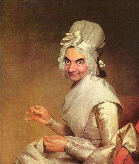 IMG 6104 เมื่อใบหน้า Mr.Bean ไปปรากฏอยู่บนงานศิลปะภาพบุคคลระดับ Master Piece