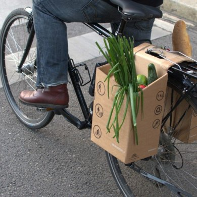ตะกร้ากระดาษกล่อง..เพื่อนักปั่นในเมือง ใส่ของ จ่ายตลาด ดูดีมีสไตล์ 16 - cardboard