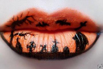 แต่งริมฝีปากเจ็บจี๊ด..รับ Halloween! 2 - make up