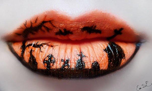 แต่งริมฝีปากเจ็บจี๊ด..รับ Halloween! 14 - ศิลปิน