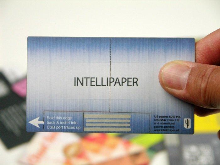 IMG 6313 นามบัตรกระดาษ ที่เป็น USB drive ในตัว..แชร์ข้อมูลสะดวก
