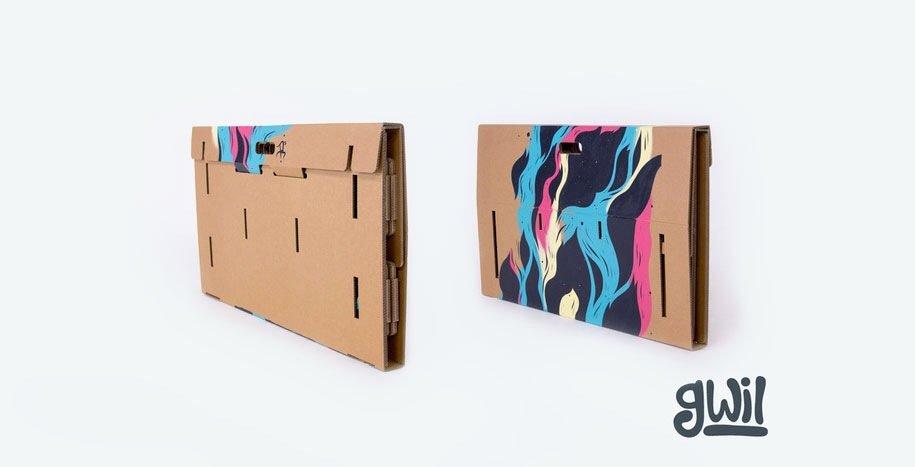 IMG 6408 Cardboard Desk..โต๊ะจากกล่องกระดาษ 100%รีไซเคิล