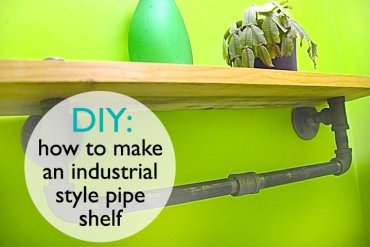 DIY: ทำชั้นวางของจากท่อน้ำเหล็ก..แนวอินดัสเทรียล 13 - ชั้นวางของ