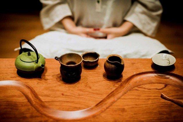 Bamboo 05 จิตสันติและสงบในห้องดื่มน้ำชา อารมณ์ไผ่และดอกบัวไม้