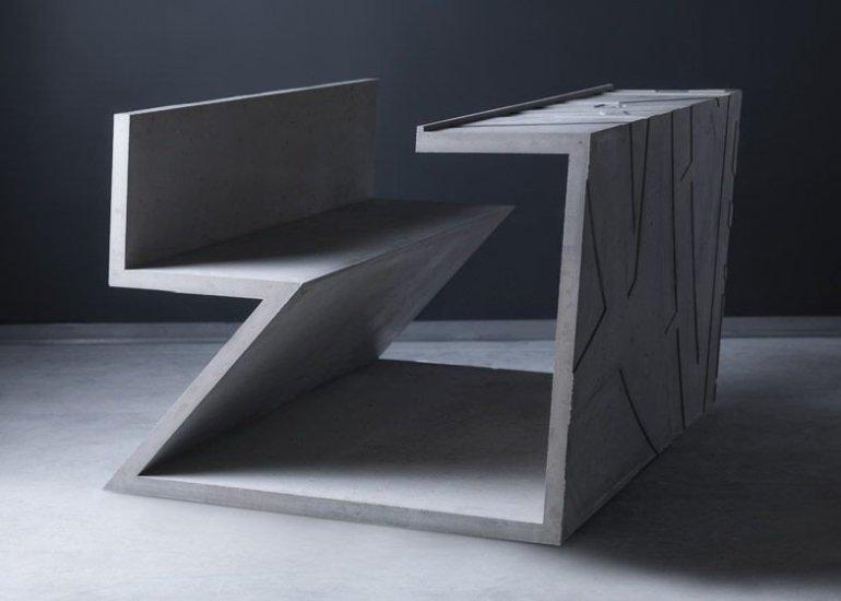 โต๊ะซีเมนต์ ออกแนวกราฟฟิคโดย Libeskind สำหรับแบรนด์ Moroso 13 - Art & Design