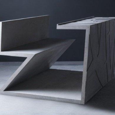 โต๊ะซีเมนต์ ออกแนวกราฟฟิคโดย Libeskind สำหรับแบรนด์ Moroso 14 - Art & Design