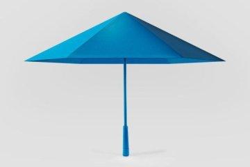ร่ม รูปทรงเรขาคณิต เหมือนงานพับกระดาษ Origami เบากว่า แข็งแรงกว่า สวยแปลกตา 6 - origami