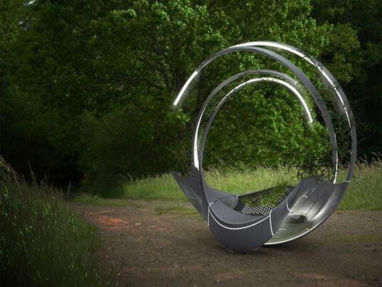 ม้านั่งผลิตจากชิ้นส่วนรีไซเคิลเครื่องบิน ดูแลตัวเอง ทั้งแสงสว่าง และน้ำหล่อเลี้ยงต้นไม้ 16 - sustainable