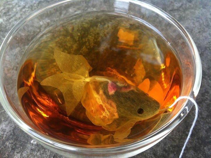IMG 7631 0 ถุงชารูปปลาทอง ประสบการณ์ใหม่ๆของการดื่มชา