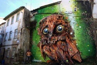 """รีไซเคิล """"ขยะ"""" ให้เป็นงานศิลปะ 3D Street Art 18 - street art"""